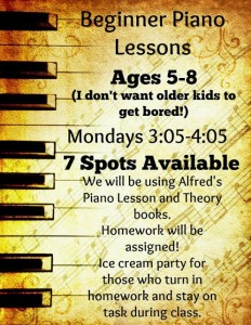Piano Lessons Beginners